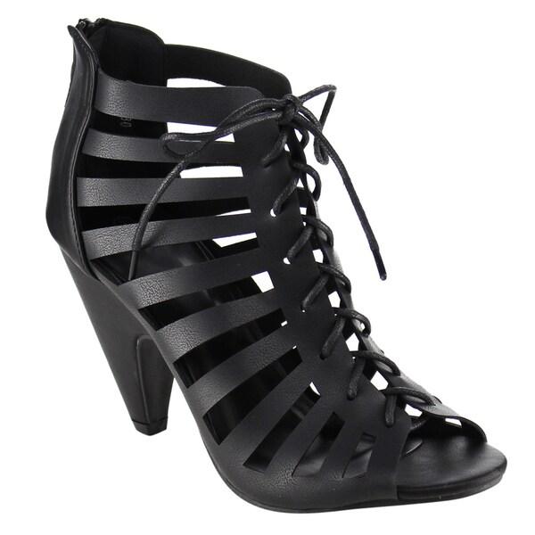 BestonPeep Toe Gladiator Sandals