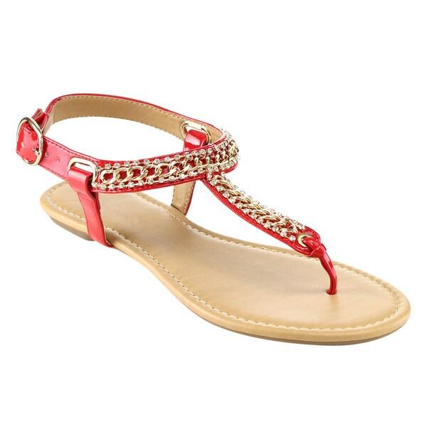 Beston T-strap Flat Thong Sandals