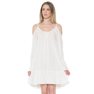 JED Women's Off Shoulder Loose Summer Mini Dress
