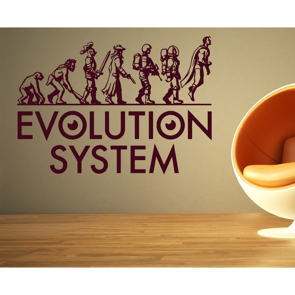 Evolution evolutionary chain system Wall Art Sticker Decal Red