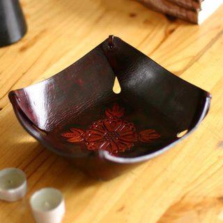 Handcrafted Leather 'Sunflower Magic' Centerpiece (Peru)