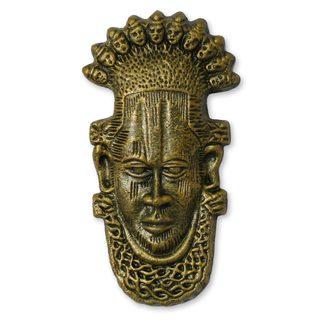Handcrafted Ceramic 'Yoruba Chiefs' Mask (Ghana)