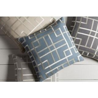 GlucksteinHome: Decorative Lalita 18-inch Down/Polyester Filled Throw Pillow