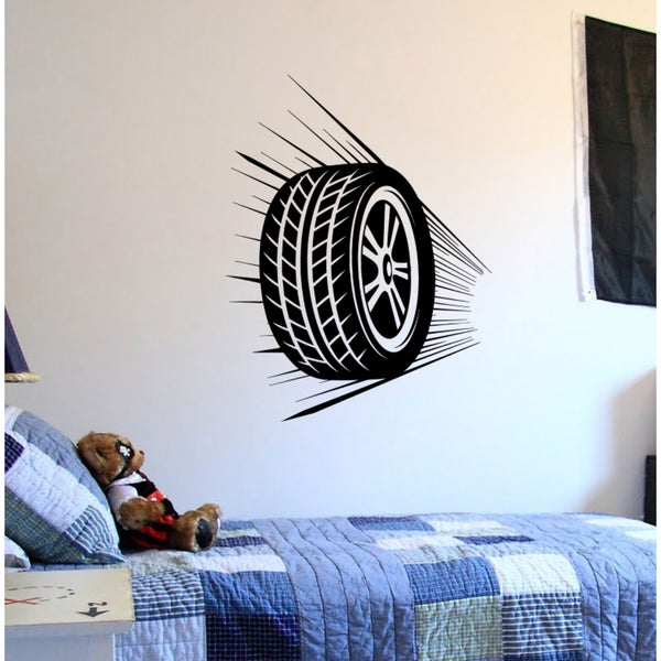 Flying wheel Wall Art Sticker Decal