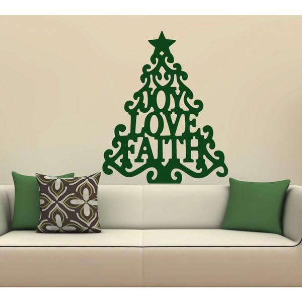 Fir-tree Christmas celebration Wall Art Sticker Decal Green