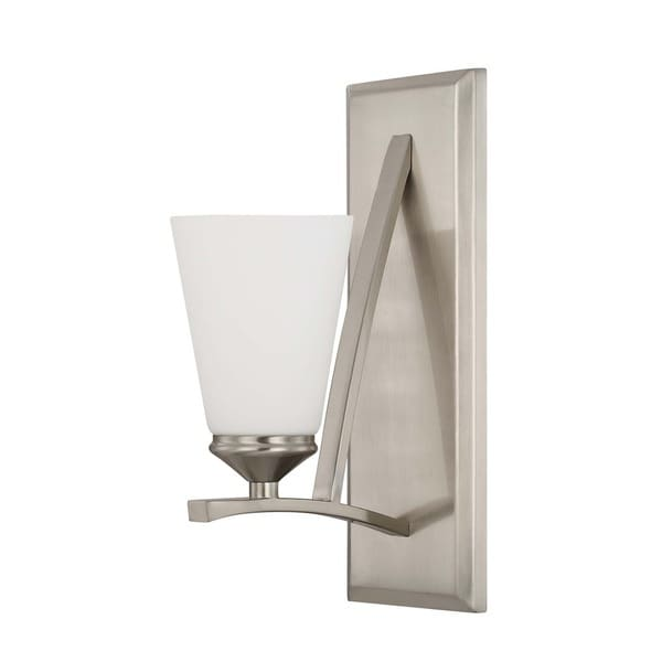 Capital Lighting Boden Collection 1-light Brushed Nickel Wall Sconce