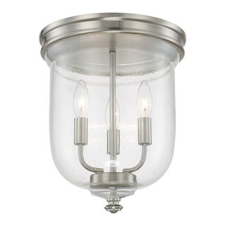 Capital Lighting Capital Ceilings Collection 3-light Brushed Nickel Flush Mount