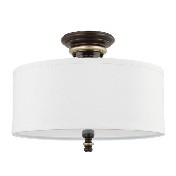 Capital Lighting Asher Collection 3-light Champagne Bronze Semi-Flush Mount