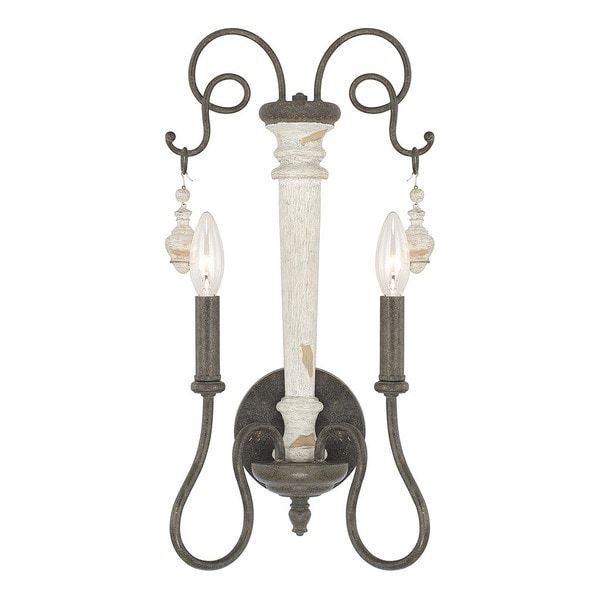 Capital Lighting Vineyard Collection 2-light French Country Wall Sconce