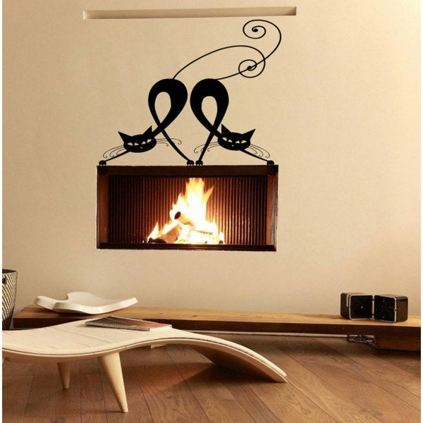 Affection love couples in love cats Wall Art Sticker Decal