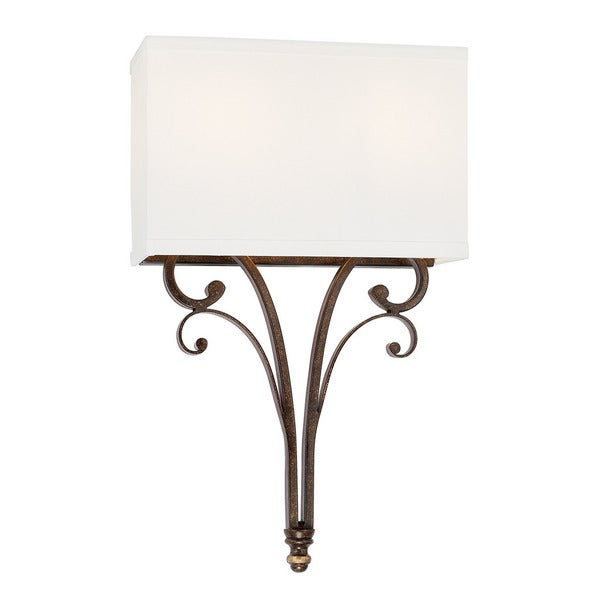 Capital Lighting Kingsley Collection 2-light Dark Spice Wall Sconce