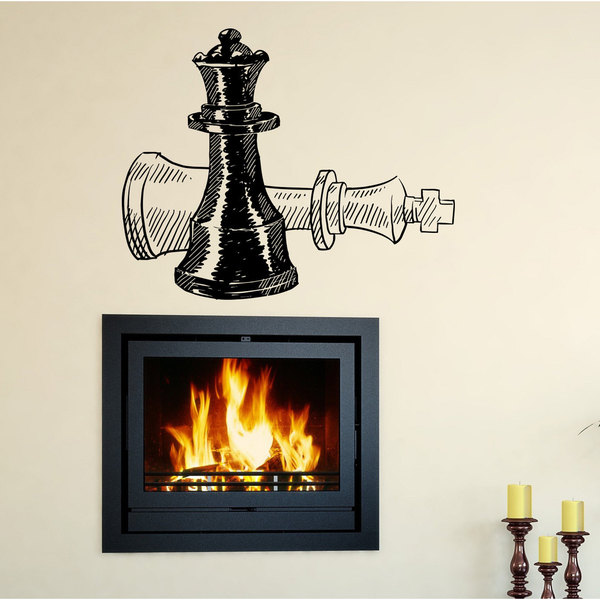 Chessmen chess sport Wall Art Sticker Decal