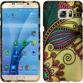 Insten Yellow Antique Flower Hard Snap-on Rubberized Matte Case Cover For Samsung Galaxy S7