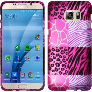 Insten Hot Pink/ White Exotic Skins Hard Snap-on Rubberized Matte Case Cover For Samsung Galaxy S7