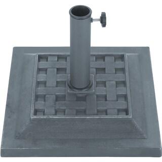 "Trademark Innovations Grey Finish Square Resin Umbrella Base (17.3""X 17.3"")"