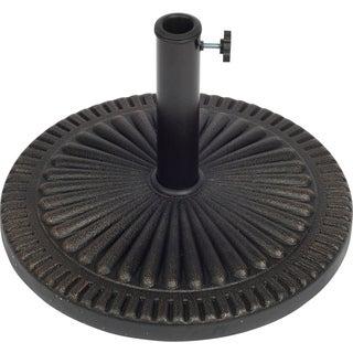 Trademark Innovations Starburst Design Bronze Finish Resin 19 Inch Round Umbrella Base