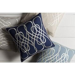 GlucksteinHome: Decorative Korovou 20-inch Down/Polyester Filled Throw Pillow
