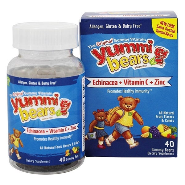Yummi Bears Echinacea Plus Vitamin C and Zinc Gummy Bears (40-count)
