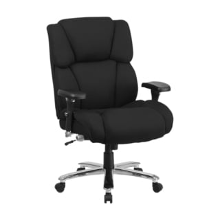 Offex HERCULES Series 24/7 Intensive Use, Multi-Shift, Big And Tall Black Fabric Executive Swivel Ch