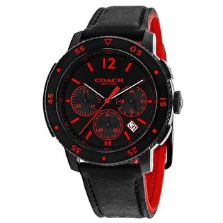 Coach Men's 14602024 Classic Round Black Strap Watch