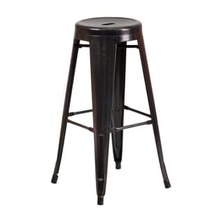 30 Inch Backless Metal Bar Stool with Round Seat