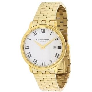 Raymond Weil Men's 5488-P-00300 'Toccata' White Dial Goldtone Stainless Steel Swiss Quartz Watch