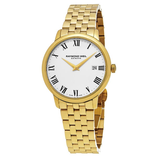 Raymond Weil Men's 5488-P-00300 'Toccata' White Dial Goldtone Stainless Steel Swiss Quartz Watch