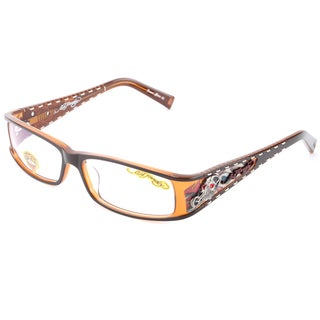 Ed Hardy EHO-723 Brown Designer Eyeglasses