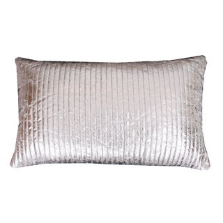 Thro by Marlo Lorenz Gary Quilted Crackle Feather Filled Rectangle Throw Pillow