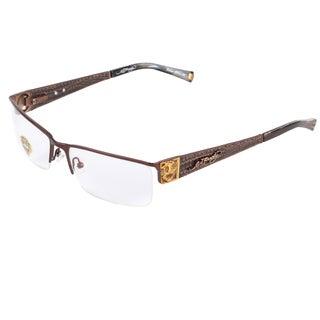 Ed Hardy EHO-721 Men's Latte Designer Eyeglasses