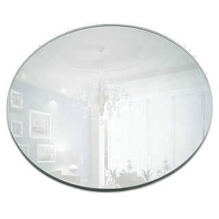 10-inch Round Mirror Candle Plate with Round Edge (Set of 12)