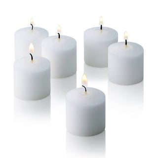White Unscented Votive Candles Set of 288 Burn 10 Hours