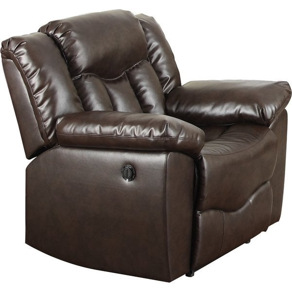 Bonded Leather Recliner in Brown