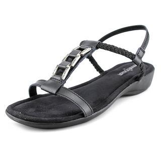 Minnetonka Women's 'Morana' Black Leather Sandals