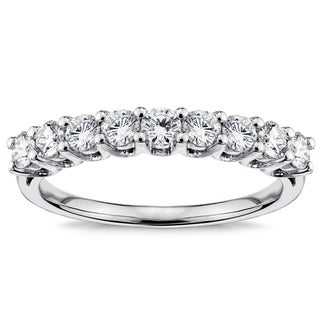 Platinum 3/4ct TDW Diamond 9-stone Wedding Band (G-H, SI1-SI2)