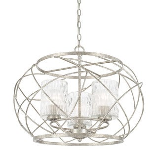 Capital Lighting Riviera Collection 3-light Antique Silver Pendant