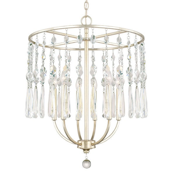 Capital Lighting Juliette Collection 6-light Winter Gold Chandelier