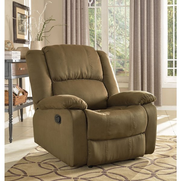 Microfiber Recliner in Green