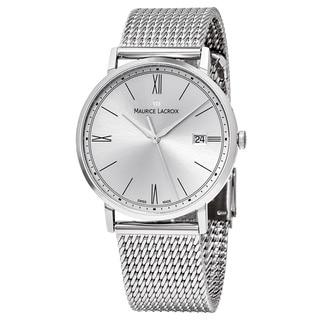 Maurice Lacroix Men's EL1087-SS002-112 'Eliros' Silver Dial Stainless Steel Swiss Quartz Watch