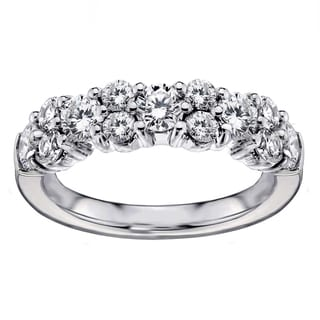 Platinum 2ct TDW Brilliant-cut Garland Diamond Wedding Band (G-H, SI1-SI2)