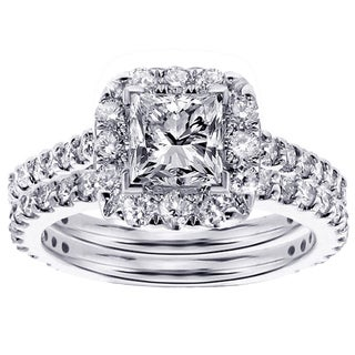 14k/18k Gold 2ct TDW Diamond Bridal Ring Set (G-H, SI1-SI2)