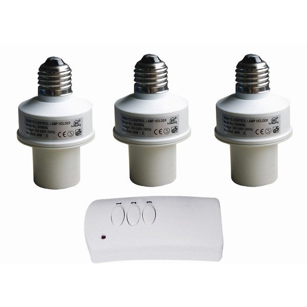 Wireless Remote Control Light Bulb Socket (3 Pack) 18149583
