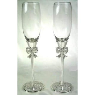 Elegance Filigree Pair of Fluted Goblets (1 Pair)