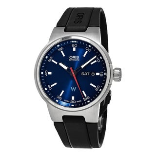 Oris Men's 735 7716 4155 RS 'Williams F1' Blue Dial Black Rubber Strap Date Day Swiss Automatic Watch