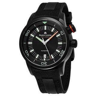 Maurice Lacroix Men's PT6248PVB013-321 'Pontos Diver' Black Dial Black Rubber Strap Swiss Automatic Watch