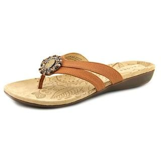 Acorn Women's 'Samoset Thong' Brown Leather Sandals