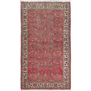 Ecarpetgallery Hand-knotted Melis Vintage Brown Wool Rug (4' x 7')