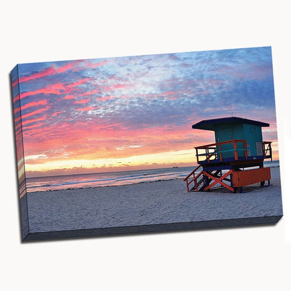 South Beach Canvas Printed on Canvas Stretched Framed Ready to Hang