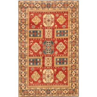 Ecarpetgallery Hand-knotted Finest Gazni Red Wool Rug (7' x 11'2)
