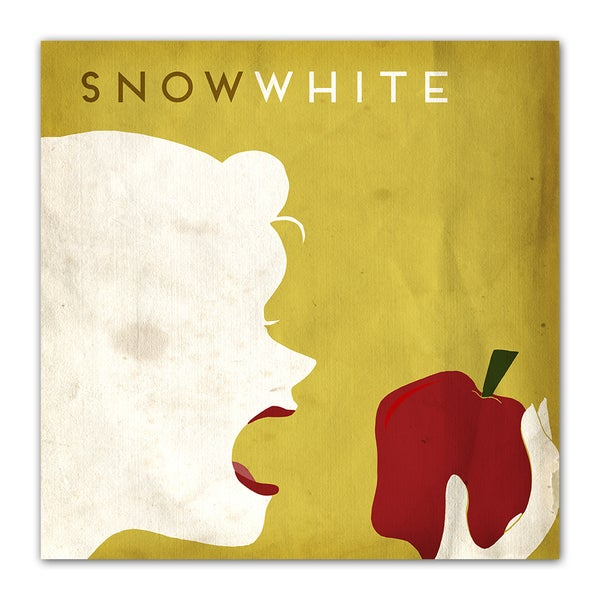 Snow White Fairy Tales 12x12 Kid's Room Printed on a Heavyweight Matte Poster